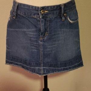 Denim American Eagle mini skirt with front zipper